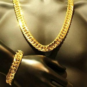 Other - Gold filled Unisex Cuban Necklace/Bracelet Set